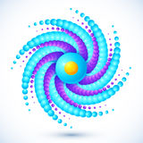 Círculo abstrato azul algo com sombra Fotografia de Stock