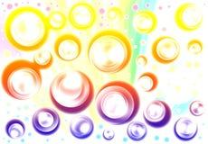 Círculo abstrato claro do fundo Fotos de Stock