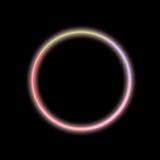 Círculo abstrato de néon fotografia de stock