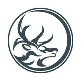 Círculo abstrato dos cervos Imagem de Stock Royalty Free