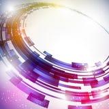 Círculo abstrato fundo conectado Imagem de Stock Royalty Free