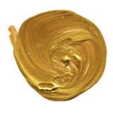 Círculo acrílico isolado no fundo branco Amarele, forma redonda da aquarela do ouro para o texto Elemento para o projeto diferent ilustração do vetor