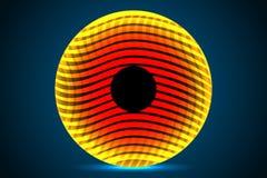 Círculo alaranjado abstrato Foto de Stock