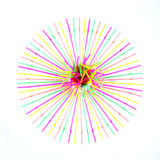 Círculo alinhado com as palhas bebendo Foto de Stock Royalty Free