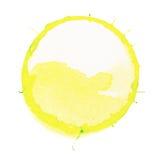Círculo amarillo Imágenes de archivo libres de regalías