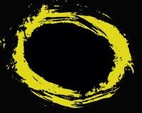 Círculo amarillo Imagenes de archivo