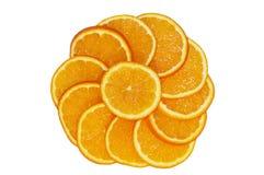 Círculo anaranjado Fotos de archivo
