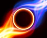 Círculo ardente abstrato do fogo Imagens de Stock