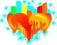 Círculo asombroso del amor Imagen de archivo libre de regalías