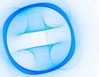 Círculo azul da tecnologia em um branco imagem de stock
