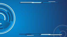 Círculo azul de Techno del vector del papel pintado para la presentación Fotografía de archivo libre de regalías