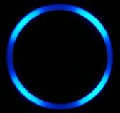 Círculo azul del LED Imagen de archivo