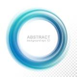 Círculo azul transparente abstrato do redemoinho ilustração stock