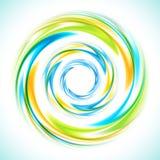 Círculo azul, verde y amarillo abstracto del remolino stock de ilustración