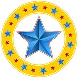Círculo biselado de la estrella del circo del carnaval stock de ilustración