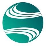 Círculo bom para o logotipo simples ilustração stock