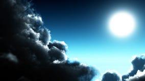Círculo brilhado da lua Imagens de Stock Royalty Free