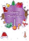 Círculo Card_eps de la Navidad Foto de archivo