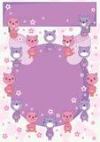 Círculo Card_eps de la pista del oso stock de ilustración