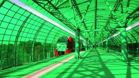 Círculo central de Moscou - pouco anel, CCM, ou MK MZD, são uns 54 estrada de ferro do orbital4-kilometre-long Rússia del vídeos de arquivo