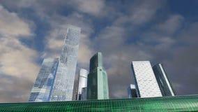 Círculo central de Moscou - poucos anel, CCM, ou MK MZD, e arranha-céus da cidade internacional do centro de negócios, Rússia vídeos de arquivo