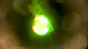 Círculo claro colorido no movimento video estoque