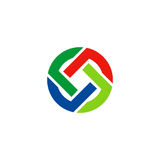 Círculo coloreado alrededor de logotipo Foto de archivo libre de regalías