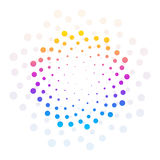 Círculo colorido abstrato fundo pontilhado Ilustração do vetor Imagens de Stock