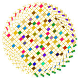 Círculo colorido de los cuadrados Foto de archivo