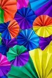Círculo colorido del papel de las fans Fotos de archivo libres de regalías