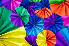 Círculo colorido del papel de las fans Foto de archivo