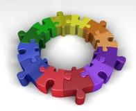 Círculo colorido do enigma foto de stock
