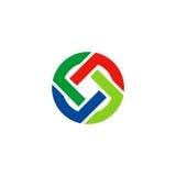 Círculo colorido em volta do logotipo Foto de Stock Royalty Free