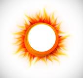 Círculo con la llama ilustración del vector