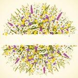 Círculo con las flores Imagen de archivo