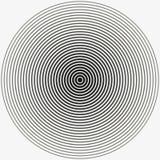 Círculo concéntrico Ejemplo para la onda acústica Anillo blanco y negro del color Ilustración ilustración del vector