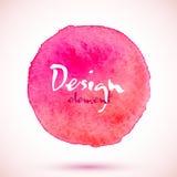 Círculo cor-de-rosa da aquarela, elemento do projeto do vetor ilustração do vetor