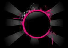 Círculo cor-de-rosa e preto Imagens de Stock Royalty Free