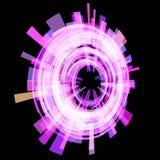 Círculo cor-de-rosa escuro abstrato em um ângulo quadriculação Fotos de Stock Royalty Free