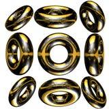 círculo 3D/anel Imagens de Stock