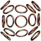 círculo 3D/anel Foto de Stock
