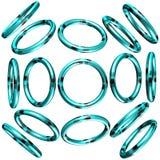 círculo 3D/anel Fotos de Stock