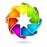 Círculo 3D o anillo colorido Fotos de archivo