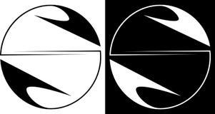 Círculo da abstração isolado e contra um logotipo escuro do negócio do projeto do fundo Imagens de Stock Royalty Free