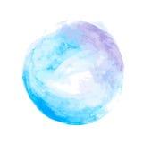 Círculo da aquarela de Nblue Imagem de Stock