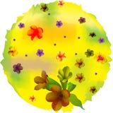 Círculo da flor, projeto da natureza ilustração do vetor
