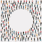 Círculo da forma dos povos do grupo Fotografia de Stock