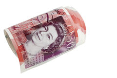 Círculo da nota de banco de libra esterlina britânica Imagens de Stock Royalty Free