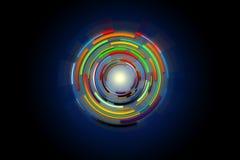 círculo da Olá!-tecnologia do projeto do fundo da tecnologia Imagens de Stock Royalty Free