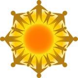 Círculo da vida Sun/eps ilustração stock